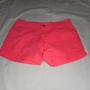 Aeropostale Coral Flat Front Shorts